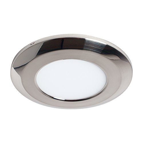 Armacost Lighting 224410 Round Flat Panel Fixture Soft White 3000K Wafer Thin LED Puck Light, 3-3/4