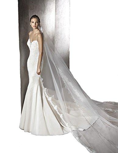 Passat lace applique wedding veil product image