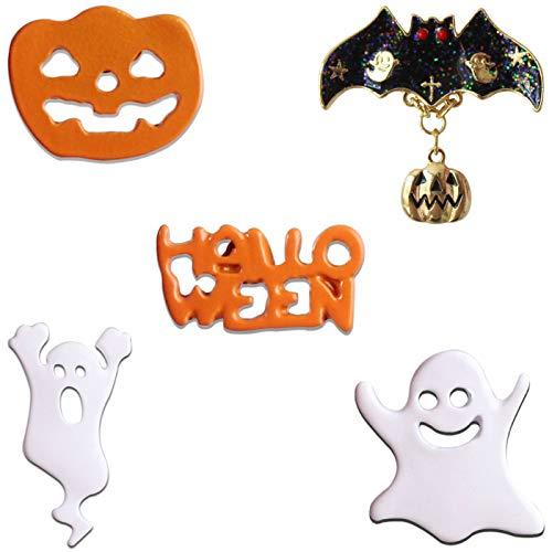 KimYoung Cute Enamel Lapel Pin Sets Carton Animal Brooch Pin (Cute Ghost Bat Pin) -
