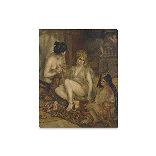 Parisiennes In Algerian Costumes Or Harem - DNOVING Canvas Painting Art Pierre Auguste
