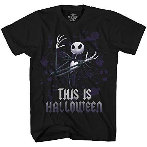 Disney Nightmare Before Christmas Jack This is Halloween T-Shirt (XX-Large) Black