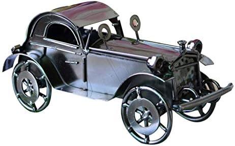 鉄の車のモデルレトロな車の創造的なリビングルームの装飾ホームリビングルームワインキャビネットディスプレイスタンド、マニュアル (Color : Brass, Size : 20*10*9cm)