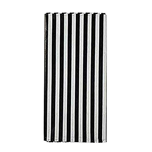 (Yansanido Plastic Picnic Party Tablecloth,6 Pack Plastic Picnic Tablecloth 54 Inch. x 108 Inch. Rectangle Table Cover (Black White)