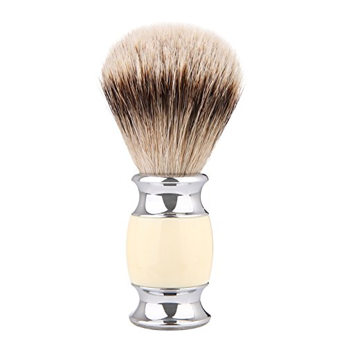 Shaving Brush, CYH 100% top Quality Silvertip Badger Hair with Imported Resin Material Handle Luxury Facial Care Tools for Safety Razor, Double Edge Razor, Shaving Razor - Edge Resin