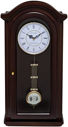Fox and Simpson Burnley Walnut Pendulum Clock with Westminster Chimes