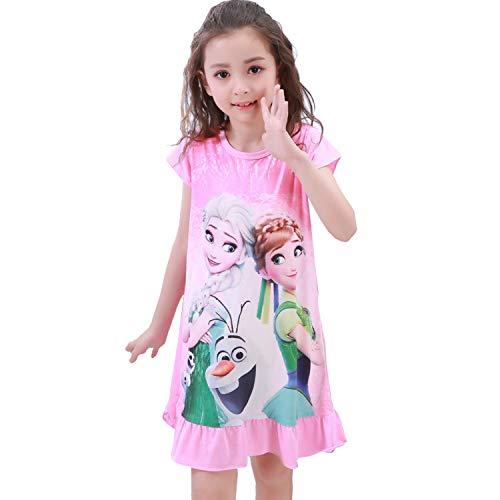 495ced13e2538 JR 子供 アナと雪 パジャマ ネグリジェ ナイトドレス 長袖 女の子 パジャマ ガールズ ワンピースパジャマ ルーム