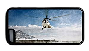 Funny iphone 5C luxury cover Mi 8 Helicopter over the snow TPU Black for Apple iPhone 5C