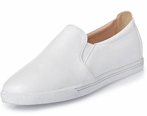 La Sra primavera y otoño ronda los zapatos del elevador pendiente con los zapatos ocasionales de los zapatos de tacón bajo para ayudar a los conjuntos bajas del pie zapatos de las mujeres , US6 / EU36