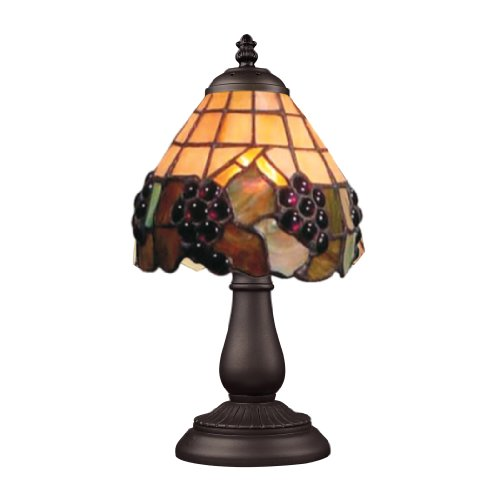 Tiffany Three Light Grapevine - Elk 080-TB-07 Mix And Match Grapevine Tiffany Table Lamp, 13