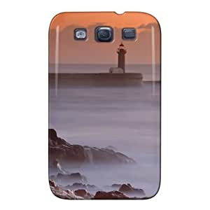 Nature Gray Ocean Lighthouse Case Cover For Sumsang Galaxy S3