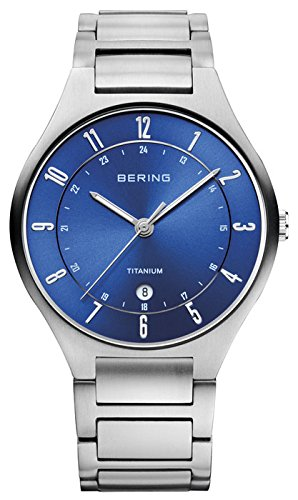 BERING Time 11739-707 Men's Full Titanium Collection Watch with Titan Link Band and scratch resistant sapphire crystal. Designed in Denmark.