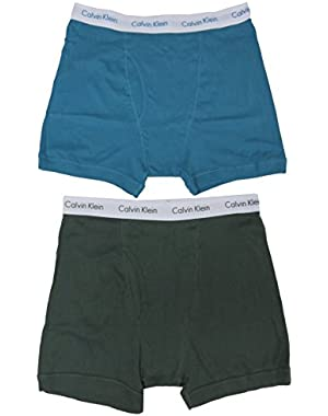 Calvin Klein Men's Boxer Briefs, Size X-Large, Green/Teal, (Pack of 2)