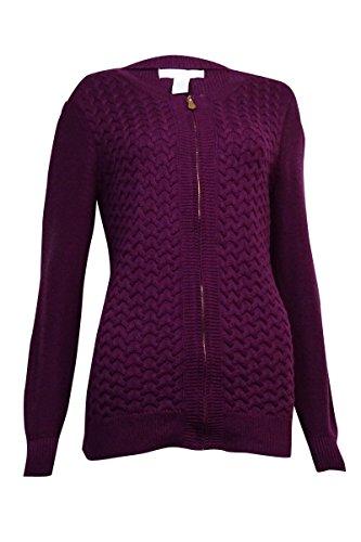 Discount Charter Club Women's Braid-Knit Zip Sweater supplier