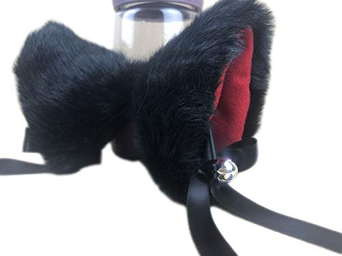 Ettonsun Furry Neko Cat Ears with Bell Kitty Ear Hair Clip Headband For Cosplay Costume Halloween Party Fancy Dress -