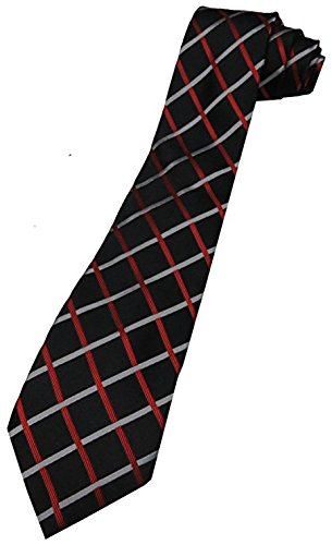 Men's Donald Trump Signature Collection Necktie Neck Tie Black, Red and Silver - Trump Collection Signature