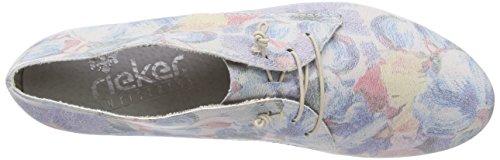 Derby Stringate 51901 90 blau Scarpe mehrfarbig Rieker multi Donna Women Multicolore qawFw7yHC