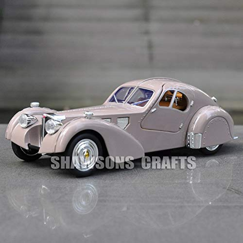 Diecasts & Toy Vehicles - DIECAST Model Toys Vintage CAR Pull Back Bugatti Type 57SC Atlantic Sound & Light - by LINAE - 1 PCs from LINAE