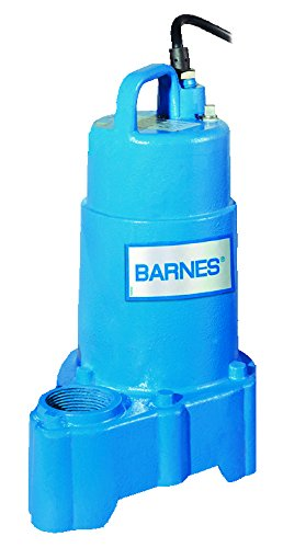 - Barnes 119331 Model EP72X Sump and Utility Pump, 3/4 hp, 240V, 1 Phase, 1-1/2