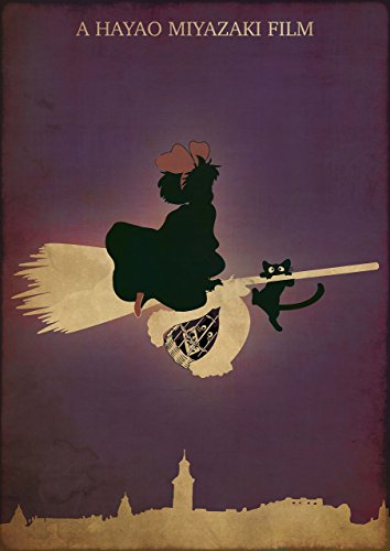 Kiki's Delivery Service Minimalist Poster Hayao Miyazaki Alternative Movie Print Studio Ghibli Majo no takkyubin Anime Illustration Home Decor Cinema Artwork Wall Art Hanging Cool Gift