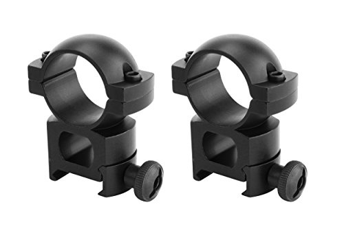Monstrum Tactical 1 Inch Scope Ring Set, High Profile, with Picatinny/Weaver Rail Mount