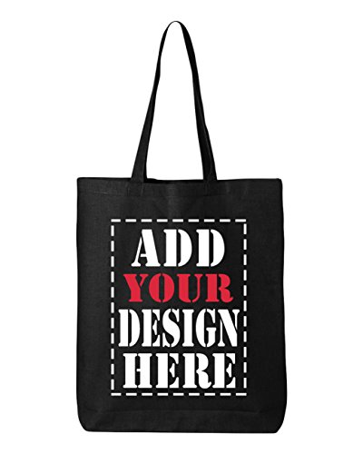 DESIGN YOUR OWN Canvas Tote Bag - Add your Picture Photo Text Print - Reusable%100 Cotton Shopping Bag - Personalized Bag - Custom Canvas Tote