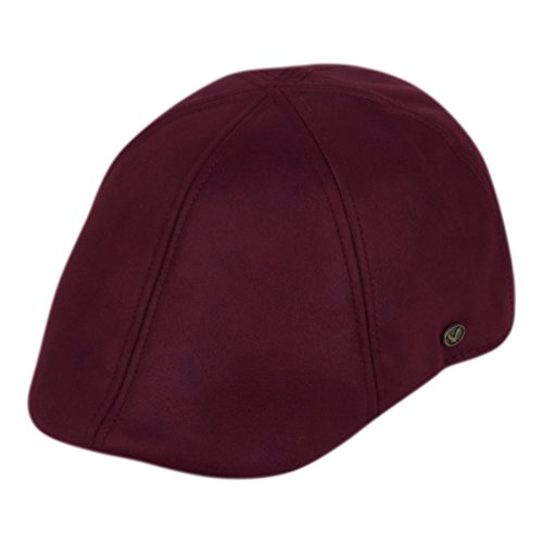 - EPOCH Faux Suede Leather newsboy Flat Cap IVY Driver Hunting Hat (L/XL, Burgundy)