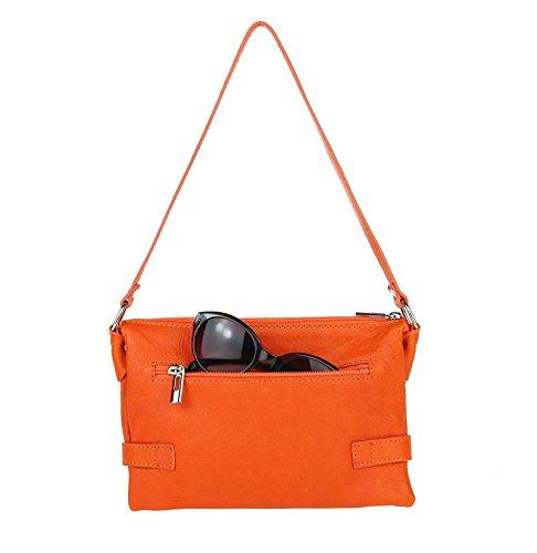 Made Italy - Cartera de mano para mujer 24x16x8 cm (BxHxT) naranja