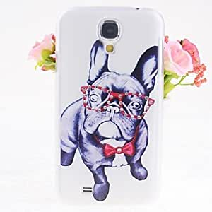 PEACH- Zircon Dogs Pattern Embossment Back Case for Samsung Galaxy S4 I9500