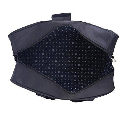 ZC&J Al aire libre 34L de gran capacidad de viaje portátil de viaje, nylon impermeable hombres impermeables y las mujeres en general bolsa de equipaje de viaje corto recorrido de excursión mochila,C,3 A
