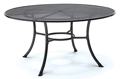 KETTLER 60 in. Round Mesh Top Table in Gray - Mesh Top Table