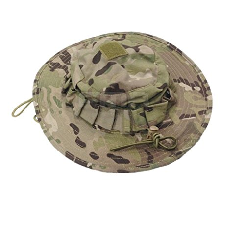 TEHL Tactical Head Wear/Boonie Hat Cap For Wargame,Sports,Fishing and Outdoor Activties/ Army Fan Hat Hactics (Jungle camo, L)