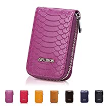 APHISON RFID Blocking Coin Pouch Purse Credit Card Case Holder Wallet with Zipper
