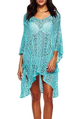Femme Up Bikini Plage Maillot Sarong Color Crochet Cover De Bain Eté Paréo 14 Gland Tricot Robe En 6wAqCA