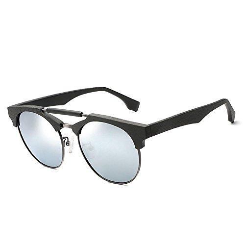 tamaño estilo de de Gafas té Pieza con de grande Gafas montura mercurio sol Película Gafas con unisex de sol Un polarizadas doble de y montura YINGM de sol madera 4qdxB6Hww