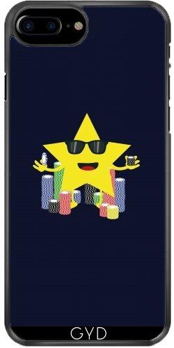 Coque pour Iphone 7 Plus / 8 Plus (5,5'') - Bonne étoile Avec Des Jetons De Poker by ilovecotton