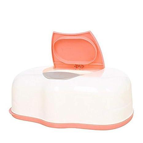 Caja de plástico para toallitas húmedas de bebé, Caja de pañuelo automático, dispensador de