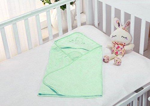 Orgánico bambú para bebé con capucha toalla de baño Natural ...