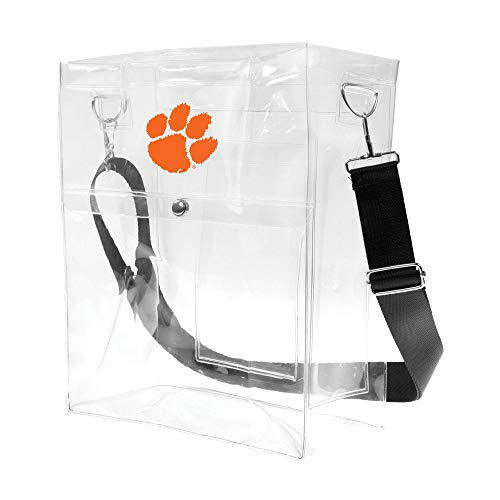 (Littlearth NCAA Clemson Tigers Unisex Ncaancaa Ticket Satchel, Clear, 12