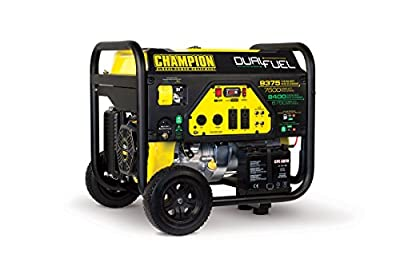 Champion 7500-Watt Dual Fuel Portable Generator with Electric Start from Champion Power Equipment