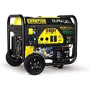 Champion Power Equipment 100165 7500 Watt Dual Fuel Portable Generator with Electric Start