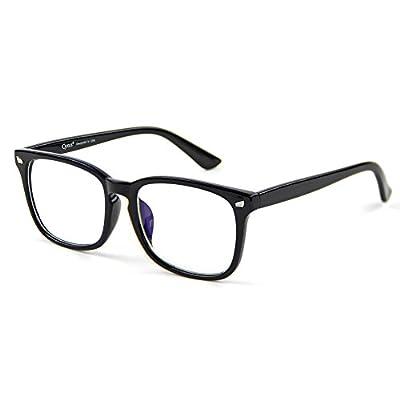 Cyxus Blue Light Filter Computer Glasses for Blocking UV Headache [Anti Eye Eyestrain] Transparent Lens Gaming Glasses, Unisex (Men/Women)