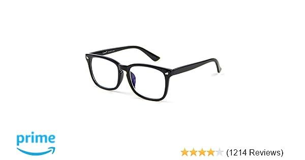 1bfee2d8ec Amazon.com  Cyxus Blue Light Filter Computer Glasses for Blocking UV  Headache  Anti Eye Eyestrain  Transparent Lens Gaming Glasses