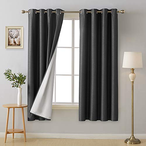 Deconovo 100 Percent Blackout Curtains Room Darkening Energy