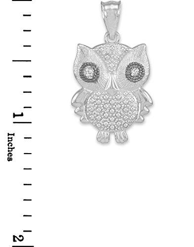Petits Merveilles D'amour - Pendentif - 10 ct or 471/1000 de diamants Blanc Eule- Avec
