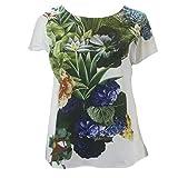 Marina Rinaldi Women's Borgo Printed Top, White, 16W / 25