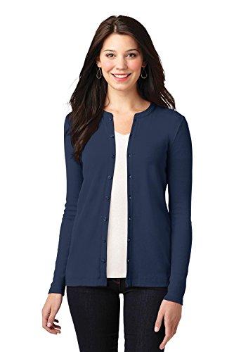 - Port Authority women's Concept Button-Front Cardigan _Dress Blue Nvy_XXX-Large