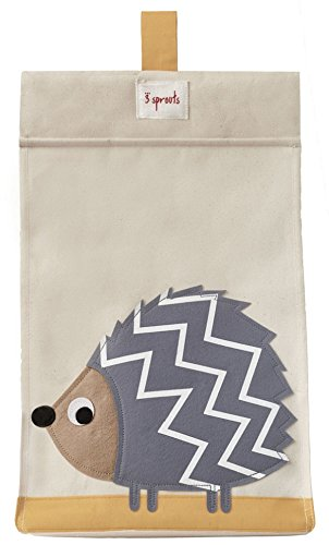 3 Sprouts Diaper Stacker, Hedgehog/Grey