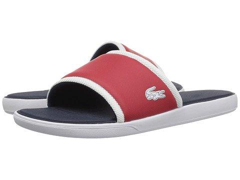 ウミウシパラメータ首謀者(ラコステ) LACOSTE メンズサンダル?靴 L.30 Slide 317 1 Red 9 27cm M [並行輸入品]