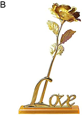 Home Decoration Gold Foil leaves /& Artificial Flower  To Express Your Love