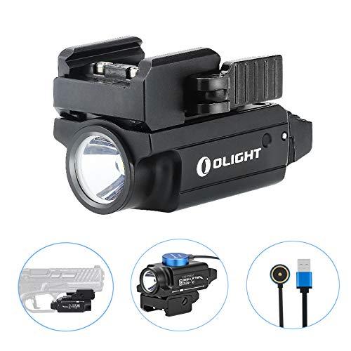 Olight PL-Mini 2 Valkyrie Light 600 lúmenes/100 metros Cree XP-L HD CW compacto magnético recargable USB con riel…